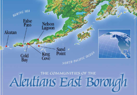 Aleutians East Borough map for use