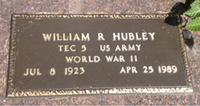 William R Hubley memorial